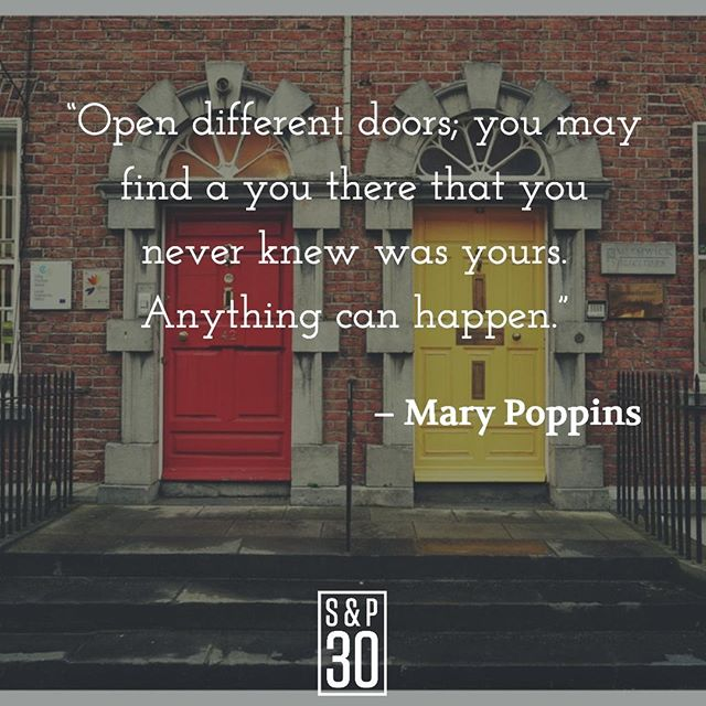 """If you never try anything new, you'll never get more than you already have. ⠀ --⠀ """"Open different doors; you may find a you there that you never knew was yours. Anything can happen."""" – Mary Poppins⠀ .⠀ .⠀ .⠀ #courage #couragequotes #courageous #bebold  #boldlife #leadership #leadershipquote #leadershipquotes #leaderquote #quote #quotepic #liveboldly #adventure #lifesanadventure #risktaker #adventurelife #travel #travellife #wanderlust #explorer #explore #entrepreneurlife #bettereveryday #progress #improvement #growth #learning #change #changemanagement #growthmindset"""