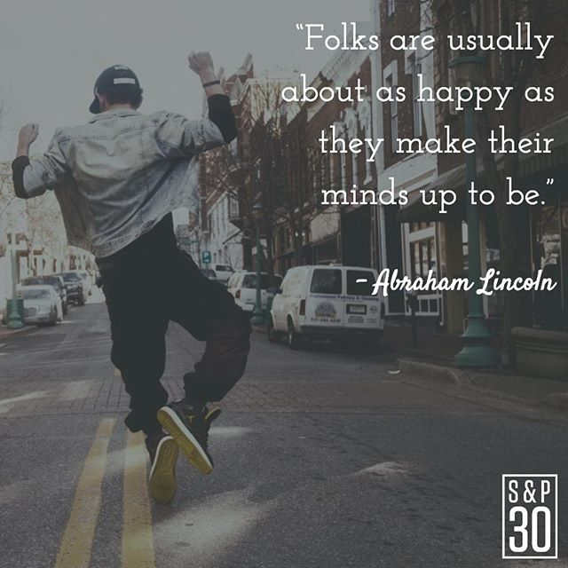 """Stop telling yourself, """"I'll just feel better once I..."""" That's not how it works. Happiness is a way of traveling, not a destination. ⠀ --⠀ """"Folks are usually about as happy as they make their minds up to be."""" – Abraham Lincoln⠀ .⠀ .⠀ .⠀ .⠀ #abrahamlincoln #lincoln #motivation #motivationmonday #inspire #inspiredlife #inspiration #inspired #inspiredlife #kindness #bekind #love #happiness  #behappy #dogood #behappy #fulfillment #lifequotes #quote #quotes #lovequotes #lifequote #happinessquotes #lincolnquote #instaquotes #inspirationalquotes #quotepic #inspiringquotes #inspirationalquotes #motivationalquotes"""