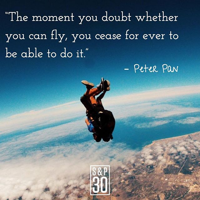 """Never stop being your biggest cheerleader. There are enough critics in the world already. ⠀ --⠀ """"The moment you doubt whether you can fly, you cease for ever to be able to do it."""" - Peter Pan⠀ .⠀ .⠀ #courage #livefree #inspiration #inspiringquote #inspiredlife #liveinspired #quote #quotes #quotepic #quoteoftheday #instaquote  #liveboldly #bebold #adventure #lifesanadventure #nomad #adventurelife #nomadiclife #nopainnogain #chaseyourdreams #dreambig #successquotes #entrepreneurquotes #believeinyourself #motivationalquotes #motivated #riseandgrind #wisdomwednesday #peterpan #disneyquotes"""