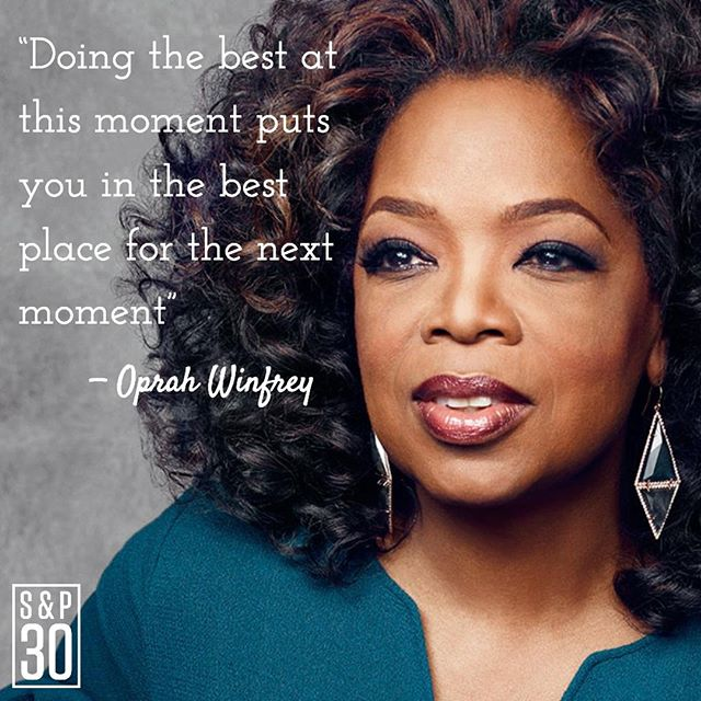 """Better. Every. Day. ⠀ --⠀ """"Doing the best at this moment puts you in the best place for the next moment"""" - Oprah Winfrey⠀ .⠀ .⠀ .⠀ #sp30 #quotes #oprah #oprahquotes #billionairequotes #billionaires #billionairemindset #millionairemindset #entrepreneur #entrepreneurquotes #entrepreneurs #entrepreneurship #entrepreneurlife #startuplife #celebrityquotes #lifequotes #gains #hustle #passion #inspiredlife #chaseyourdreams #makeithappen #dreambig #motivation #motivationmonday  #success #successquotes #improvement #bettereveryday #noexcuses"""