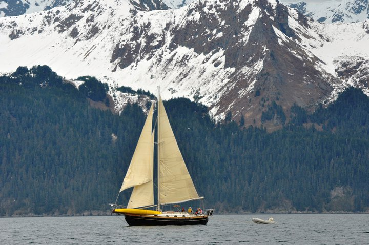 36' S/V Lyric on Resurrection Bay, Seward, AK
