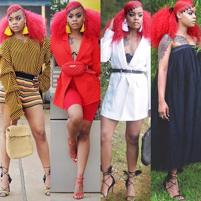 July recap:  Which was your favorite look? A. Prints B. All red C. White  D. Tulle dress  Deets on each look link in bio . . . #fashion #pic#fashioncollafe #looks #igers #mystyle #redhead #nakedtruth #thecutlife #instalook #instafashion#instastyle #streetstyle #streetlooks #stylish #ootd #lotd #lookoftoday #style