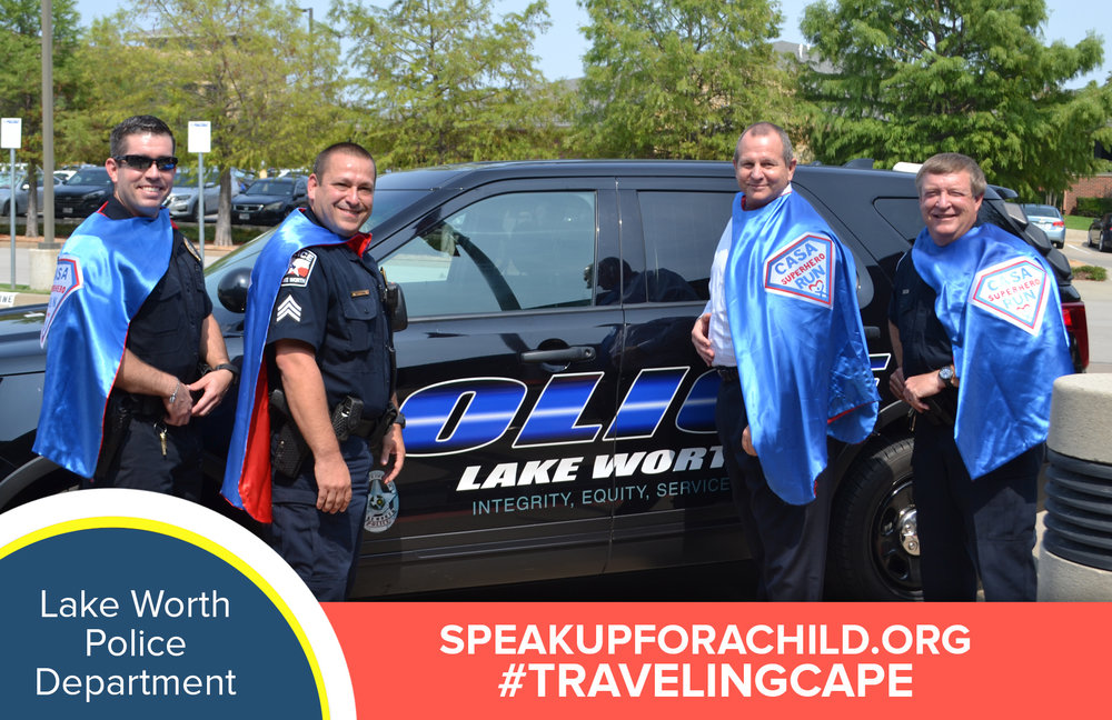 Check out our community superheroes - It's the Lake Worth Police Dept wearing our blue #TravelingCape! We thank them for their support of our mission — You ...