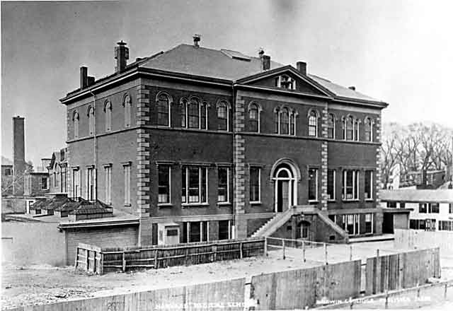 The scene of the crime: Harvard Medical Building in the 1800s