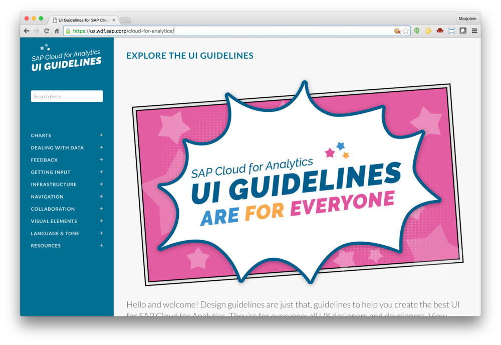 The UI Guidelines website