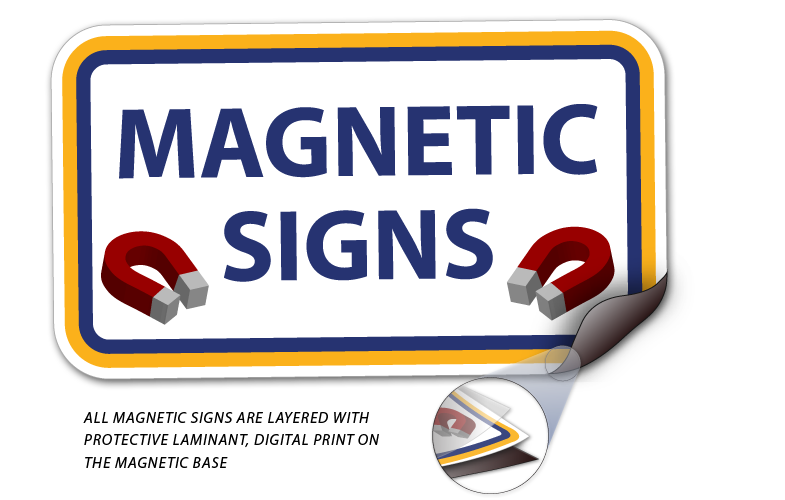 Custom Magnetic Signs for Vehicle Doors | Car Magnets from $3.50
