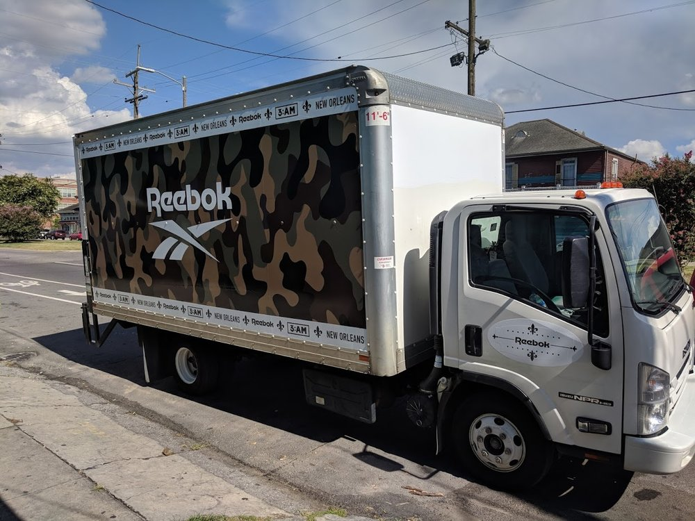 Truck Wrap for Reebok event.