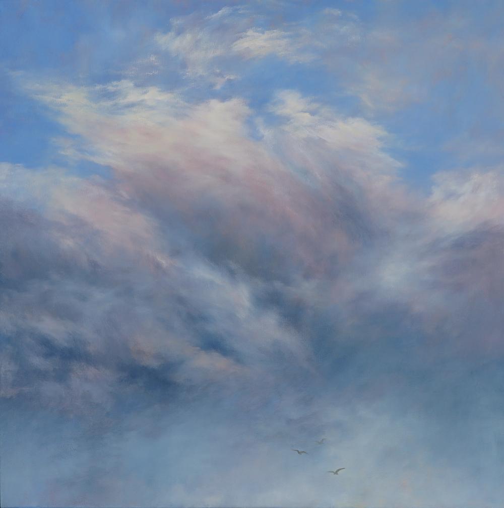 2014: Rising II, Oil on Canvas, 61 x 61cm, $2400