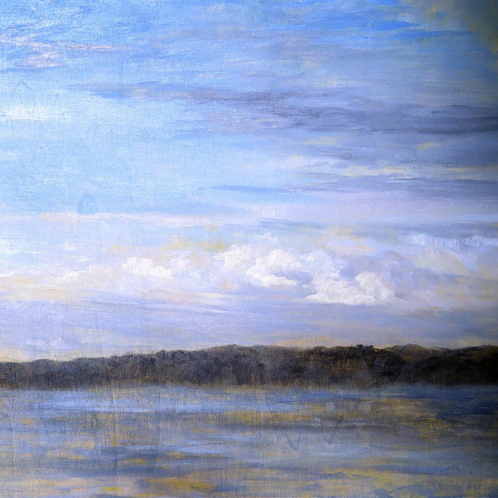 Still Morning, Oil on Board, 40 x 40cm, $485