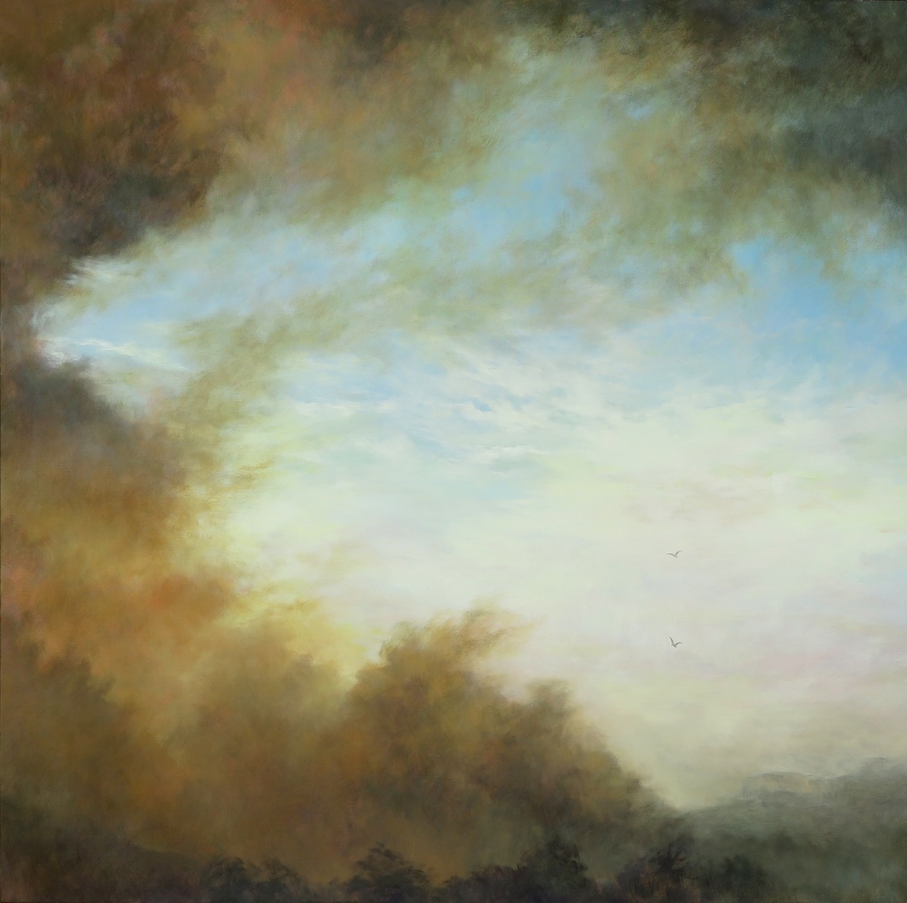 Rising, Oil on Canvas, 101 x 101cm, $3500