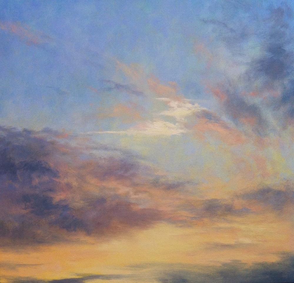 Gathering Dusk - Work in Progress, Oil on Canvas, 50x50cm