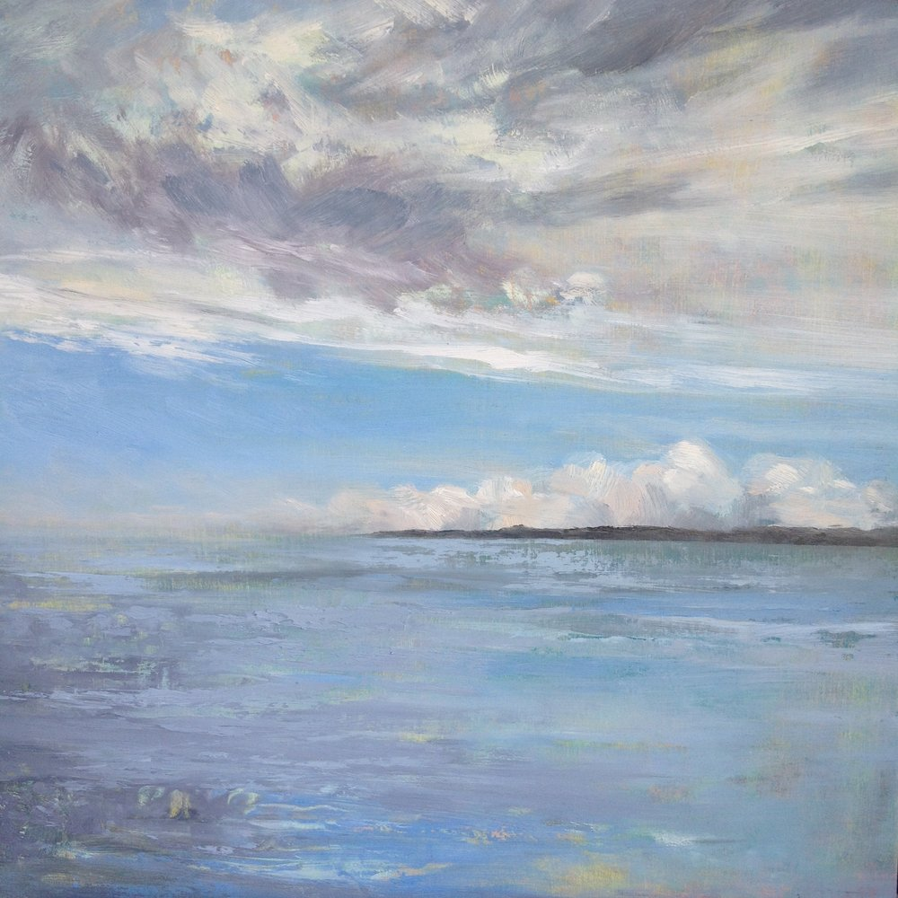 Morning Calm, Oil on board, 40cm x 40 cm, Sold