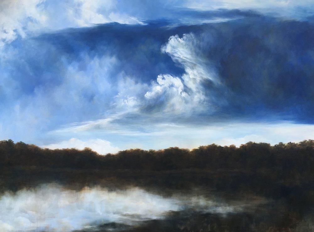 Rising, Oil on canvas, 137 x 182cm, $6500