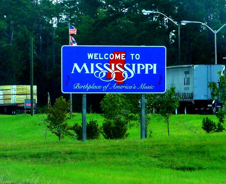 Welcome to Mississippi Road Sign