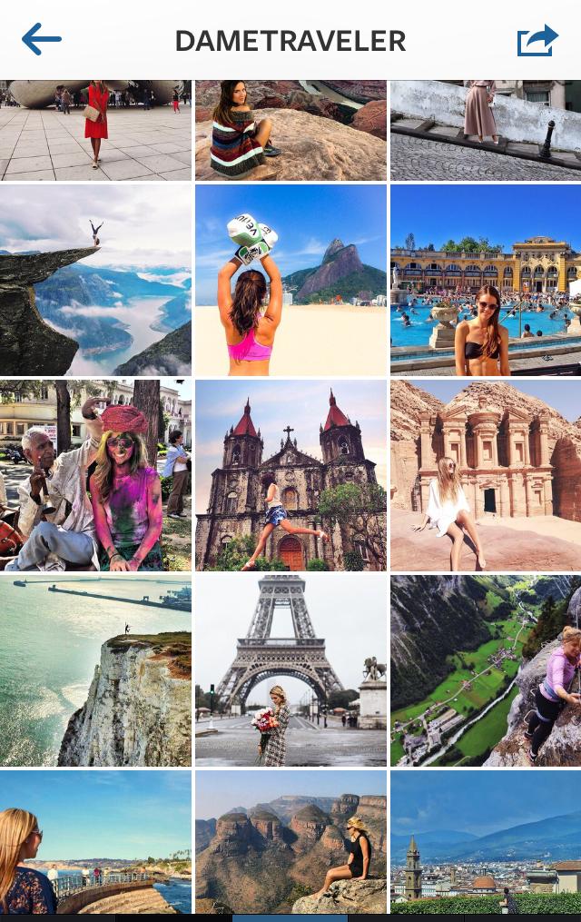 dame traveler on instagram