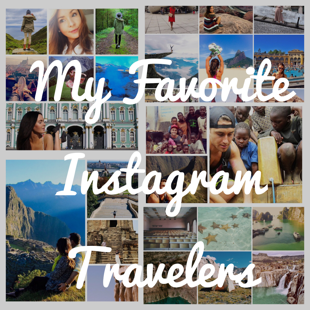 My favorite Instagram Travelers