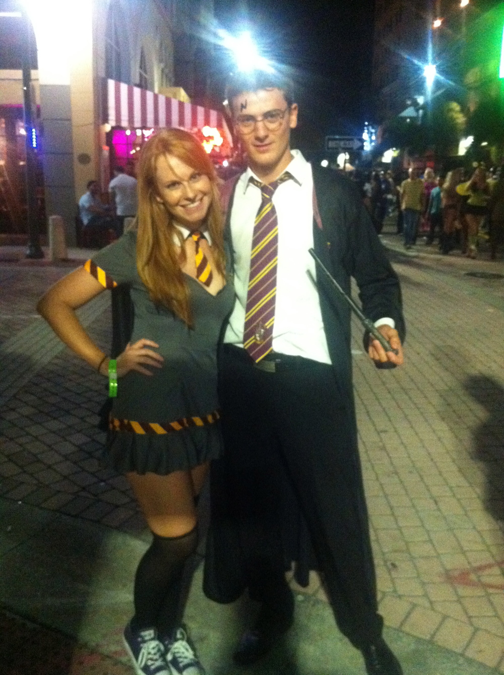 Big Harry Potter fan here, so naturally, I was Ginny Weasley for my first big Halloween party. And I found a lovely Irish Harry in West Palm Beach.