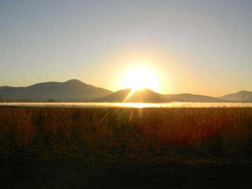 Sunrise at Mankwe Dam, Pilanesberg