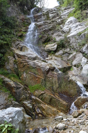 waterfall on inca trail