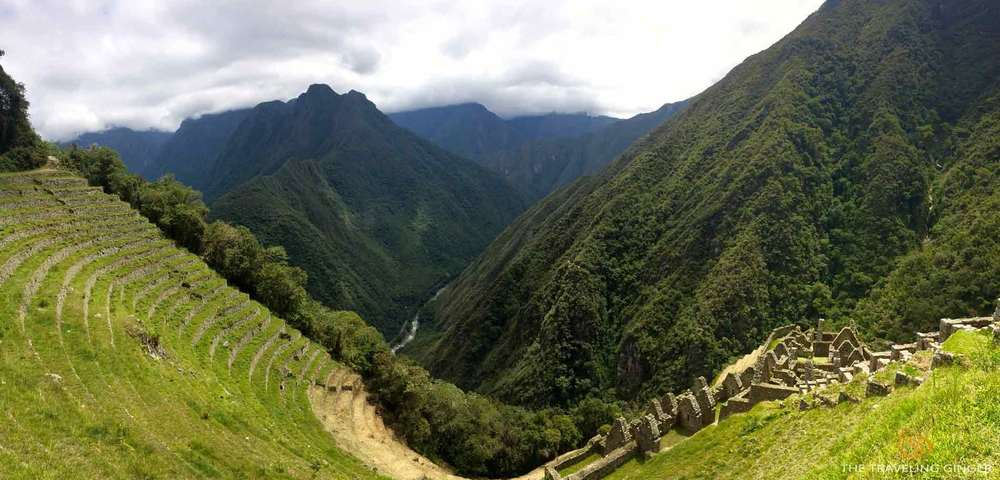 Winay Wayna ruins and landscape on the inca trail
