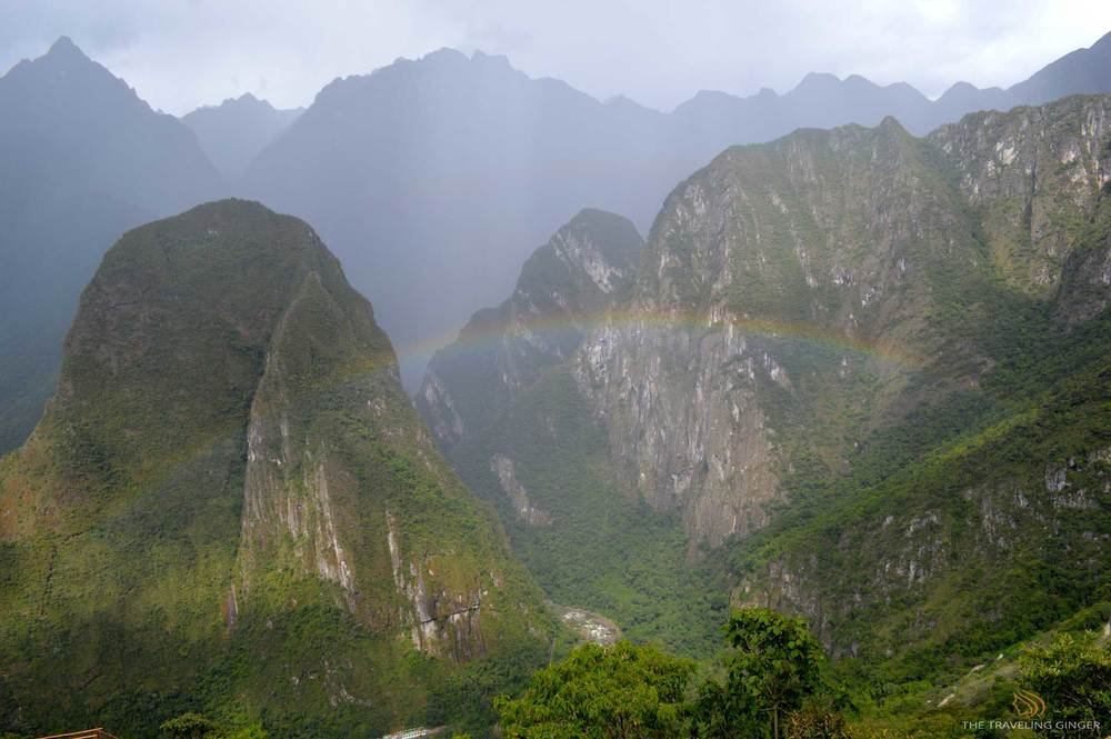Rainbow at Machu Picchu