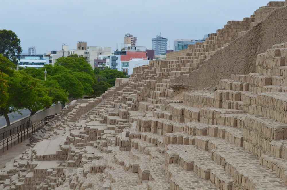 huaca pucllana ruins in lima peru