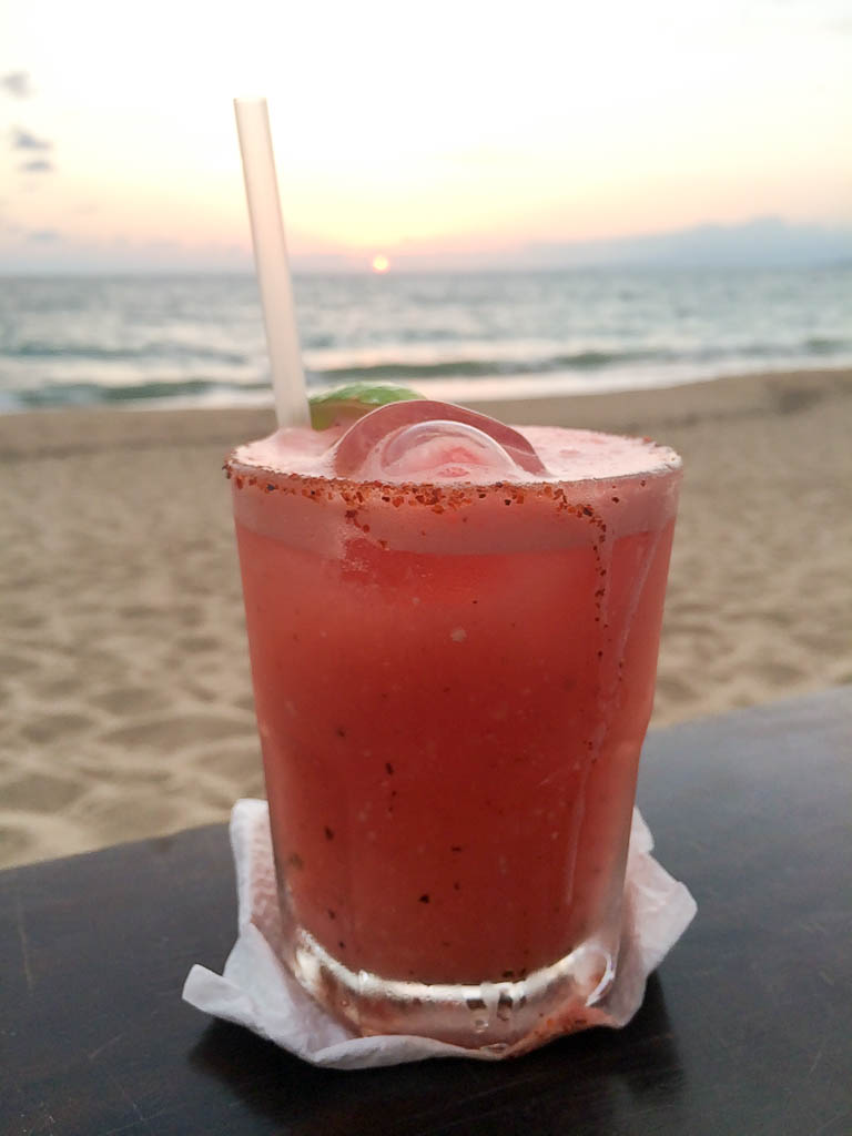 CONTIKI REVIEW MEXICO GRANDE: Cocktails on the beach at Sunset, Puerto Vallarta