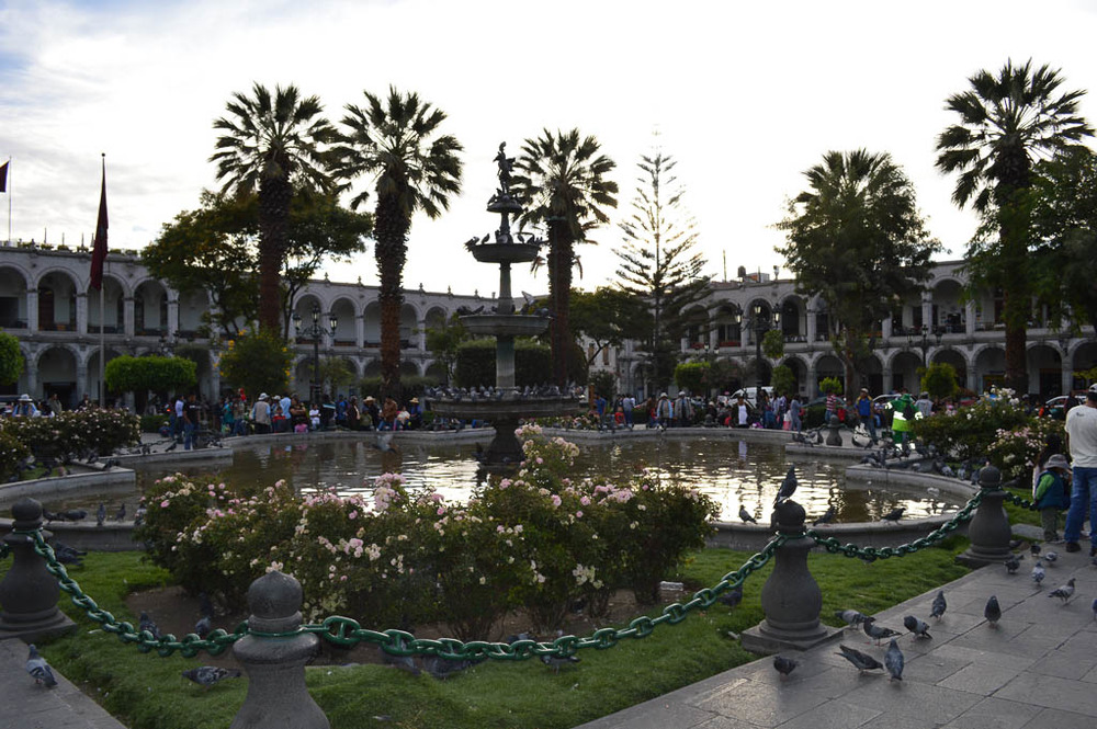 THINGS TO   SEE AREQUIPA PERU:  The Plaza de Armas of the historic district