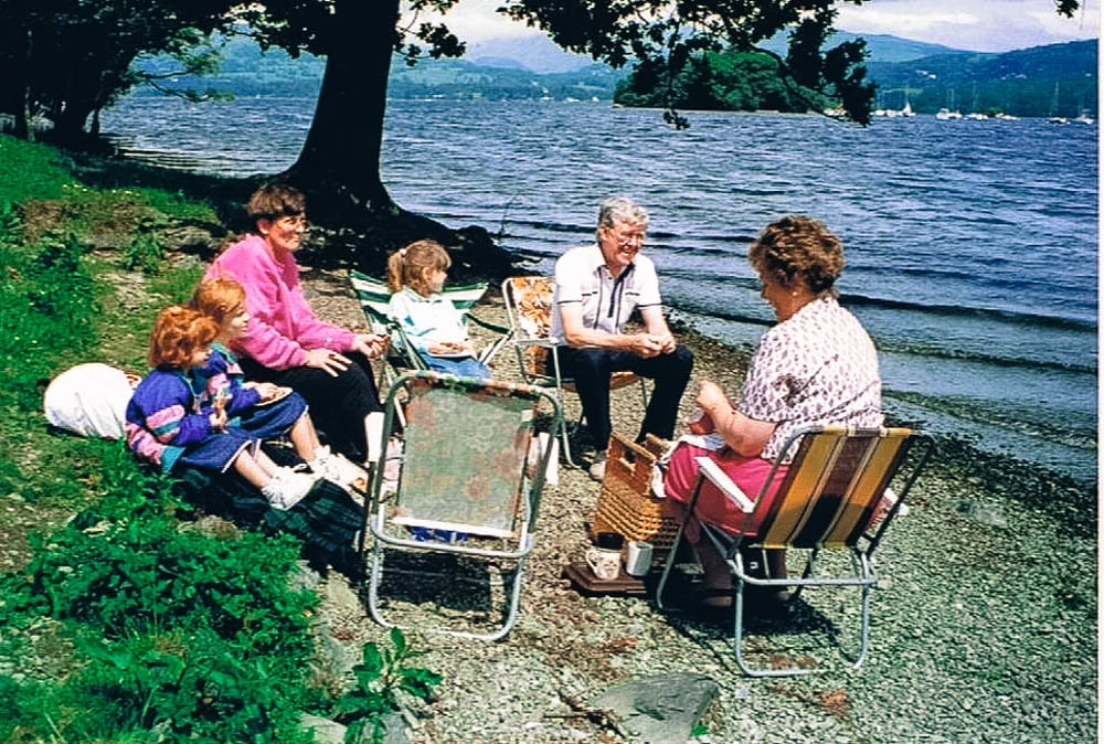 picnic at the lake districts, united kingdom