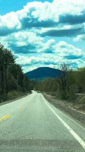 Driving the scenic route in new hampshire