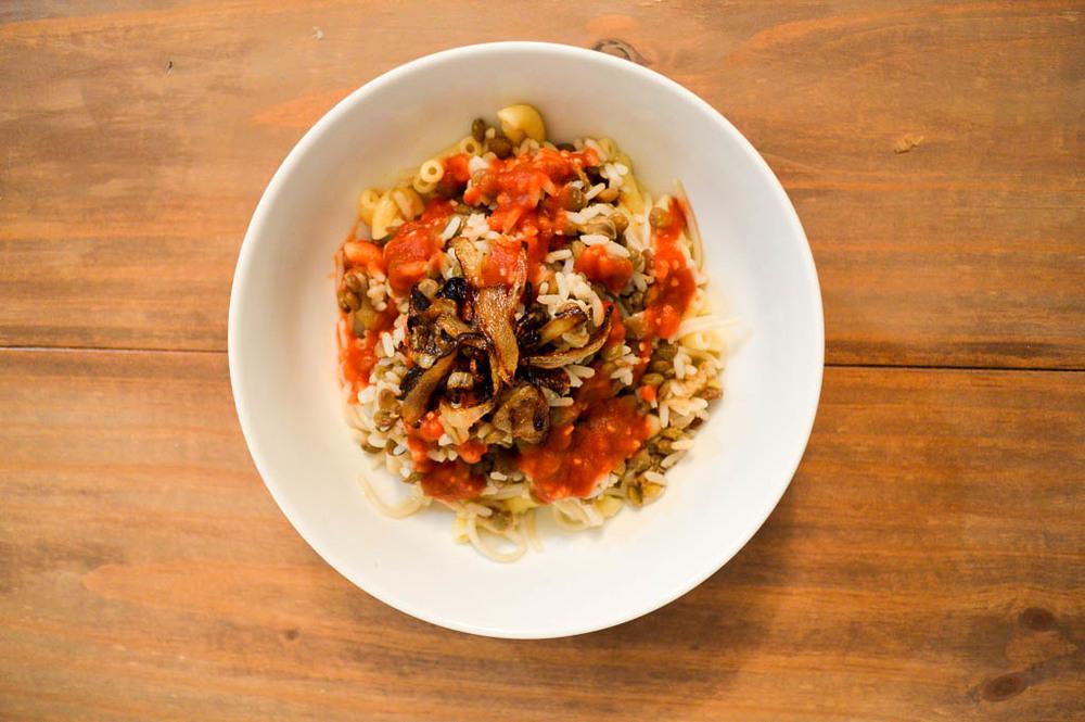 what to eat in egypt: kushari, recipe