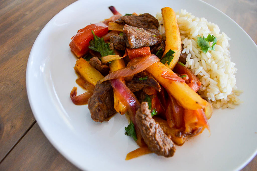 RECIPE FOR LOMO SALTADO, PERUVIAN DISH