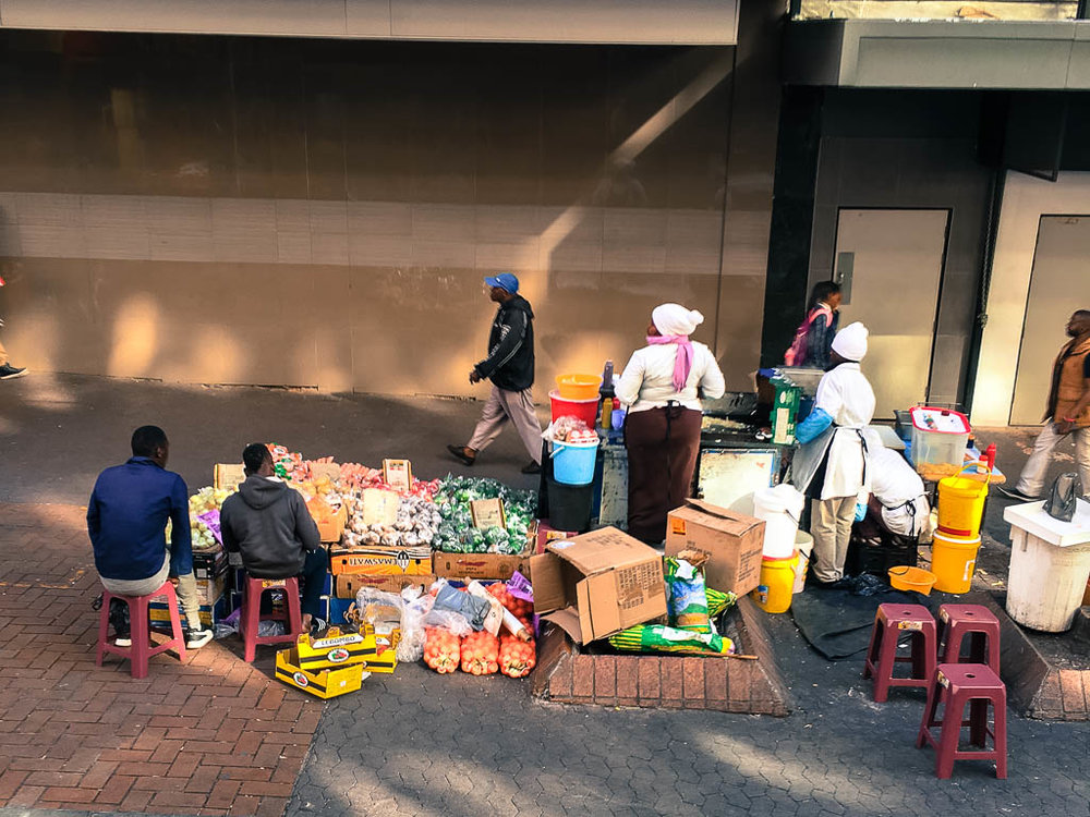 Hawkers (Informal Traders) in Johannesburg