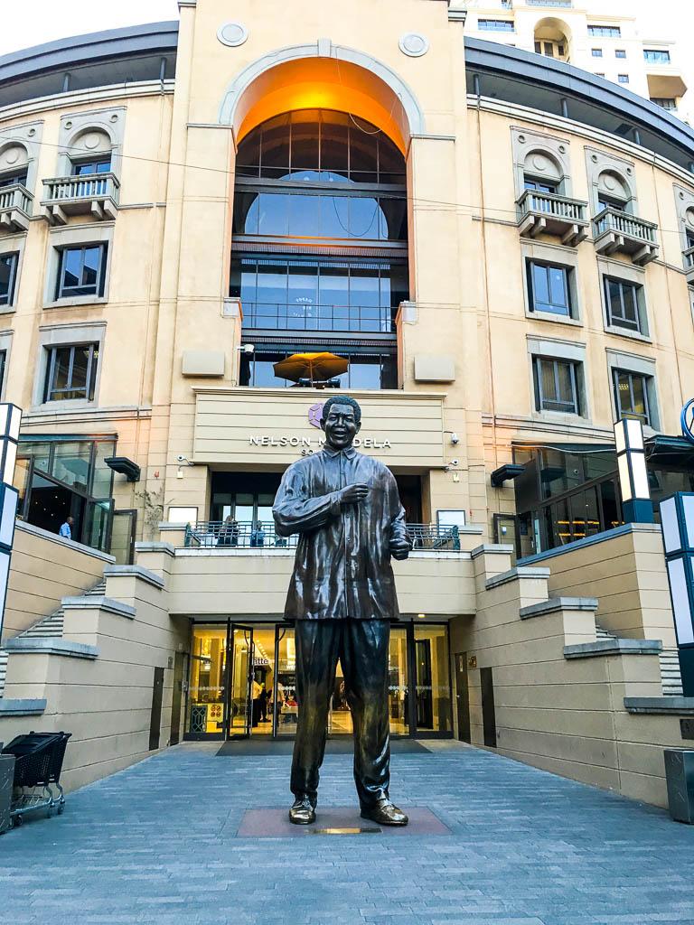 The Nelson Mandela Statue in Sandton City