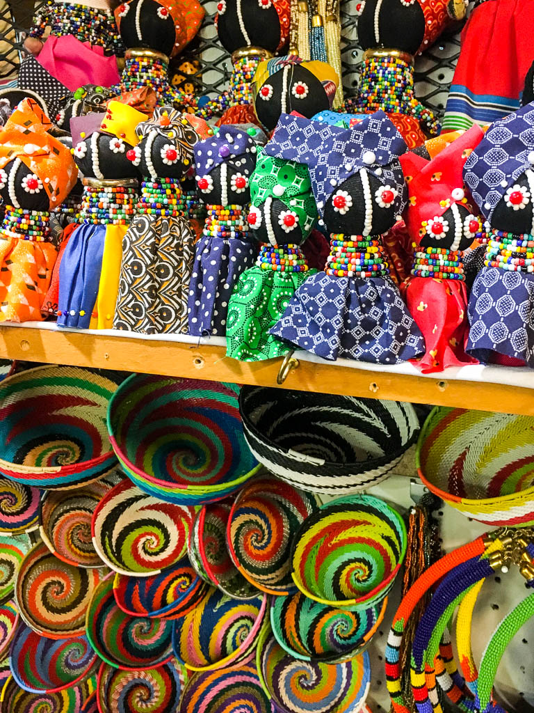 Beaded Dolls and Colorful Baskets