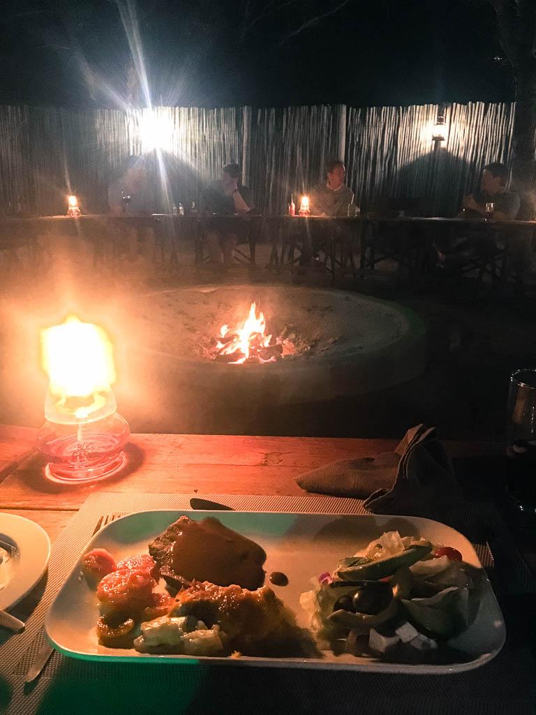 Dinner at Thornhill Safari Lodge