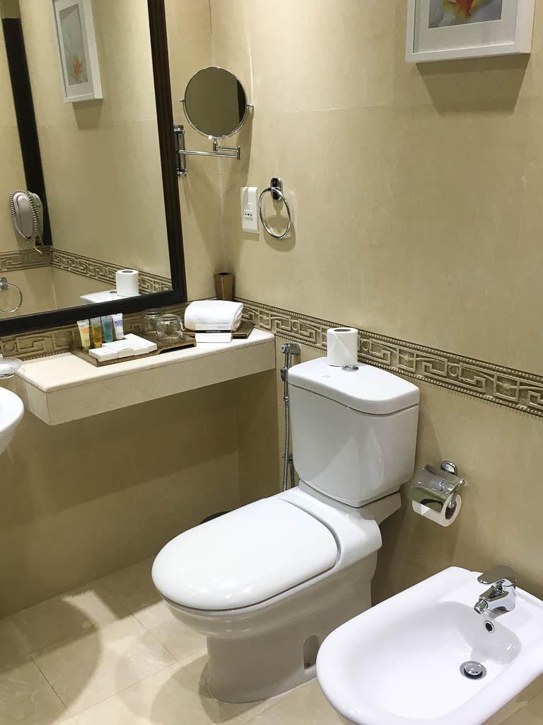 bathroom at the SARAYA CORNICHE HOTEL DOHA QATAR