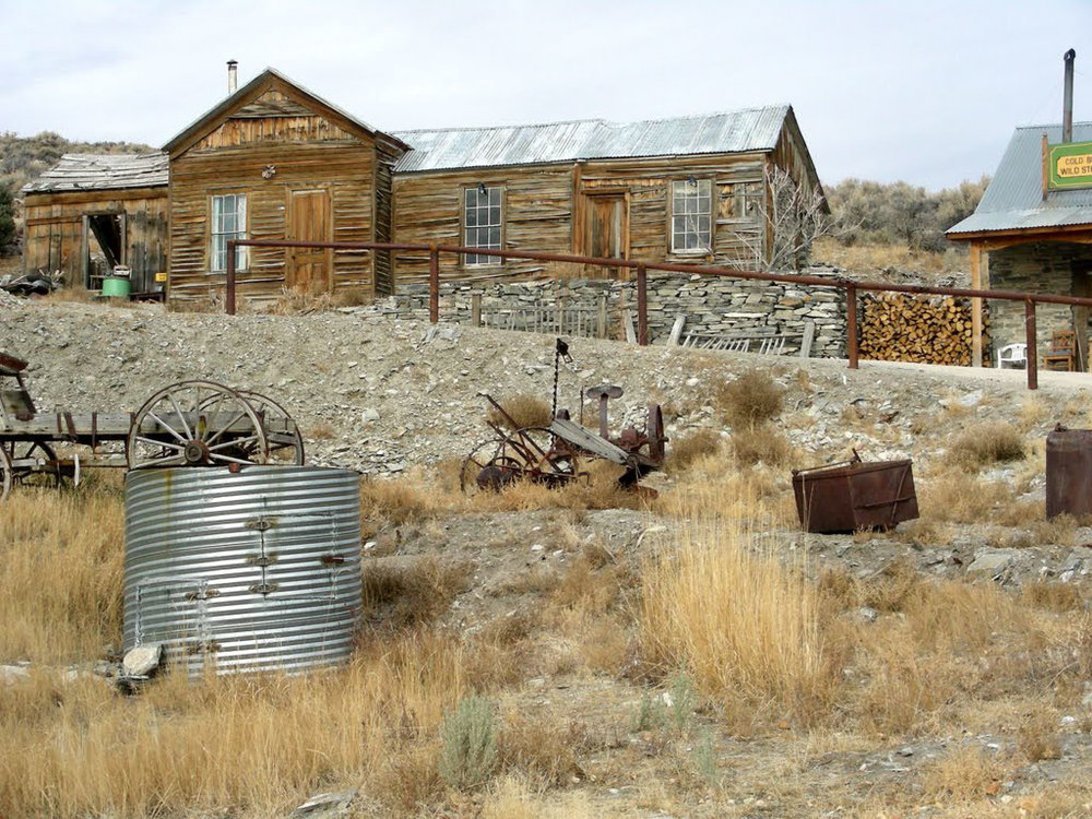 visit a ghost town in nevada