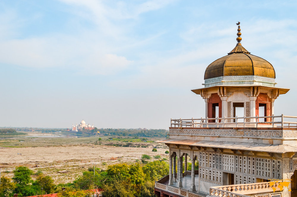 VIEW OF TAJ MAHAL FROM AGRA FORT CONTIKI REVIEW