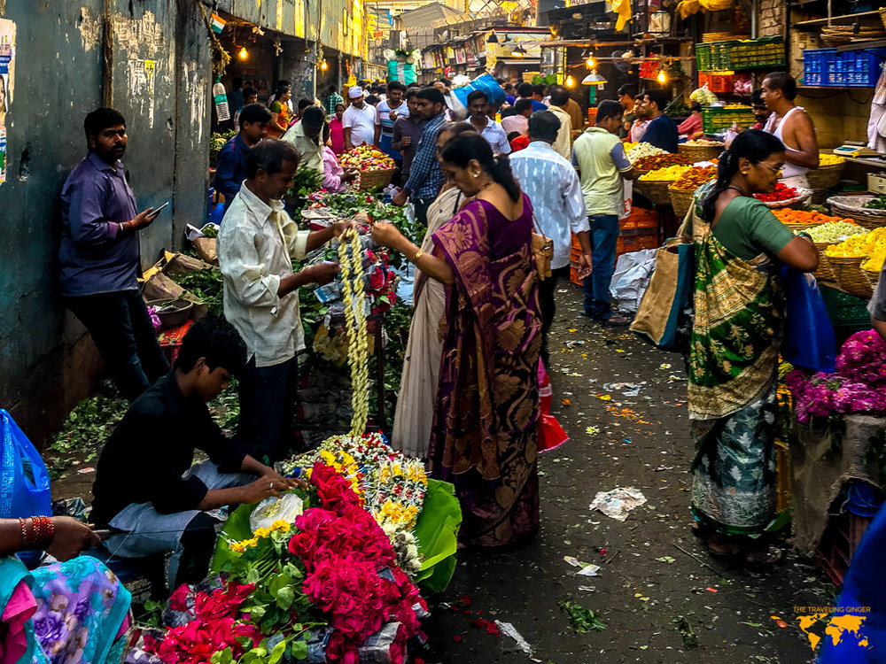 FLOWER MARKET IN MUMBAI, INDIA