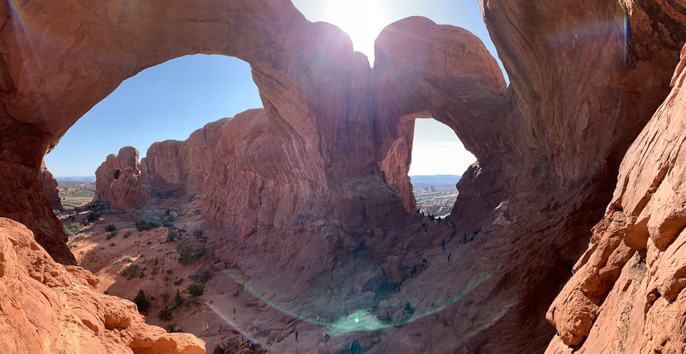 DOUBLE ARCH AT ARCHES NATIONAL PARK UTAH