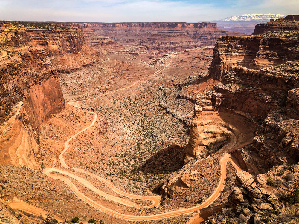 SHAFER VIEWPOINT AT CANYONLANDS NATIONAL PARK UTAH