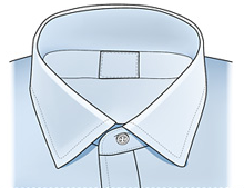 SPREAD The Spread collar is perfectly suited for a Windsor knot. Like the other spread collars, this style lends itself to flatter a narrower face.