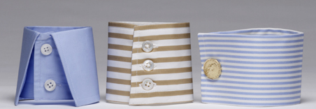 From Left to Right - The Turnback Cuff, The Button Cuff, The French Cuff