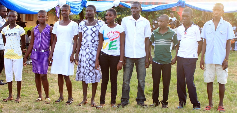 Members of the Konko Village 2014 Junior High School graduating class. These Students (all are not pictured) are hopeful that they will benefit from assistance to help them attend high school.
