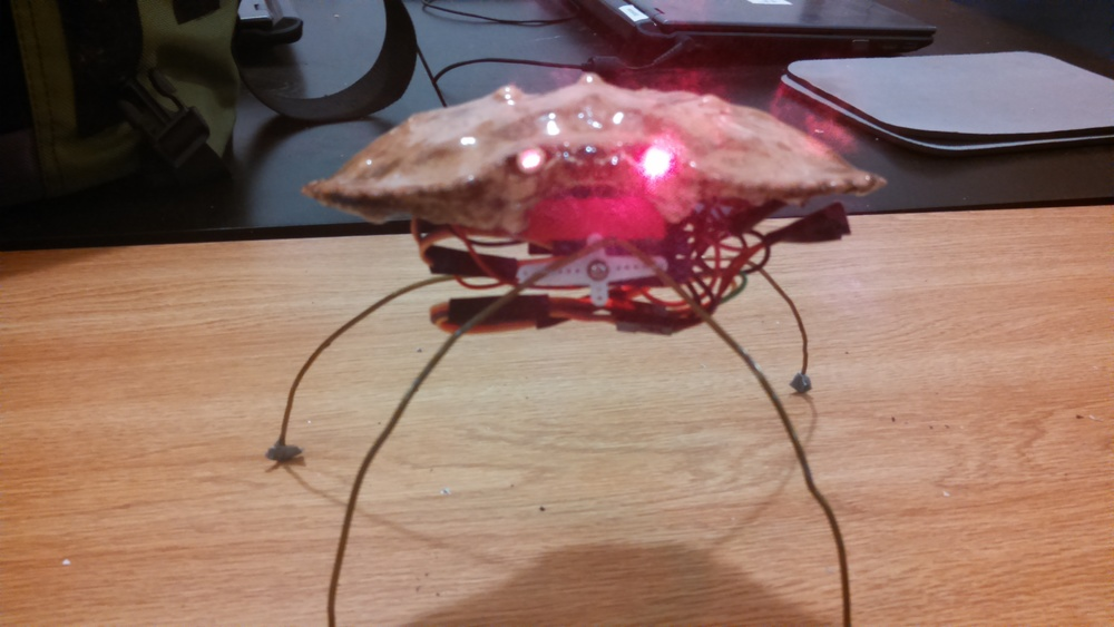 CrabBot with laser eyes