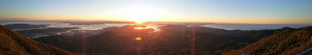 2016 New Year Sunrise from Mt Tam