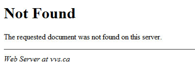 Standard 404 Page