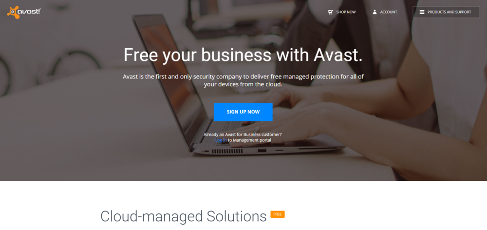 Free Cloud Based Business Grade Antivirus by Avast