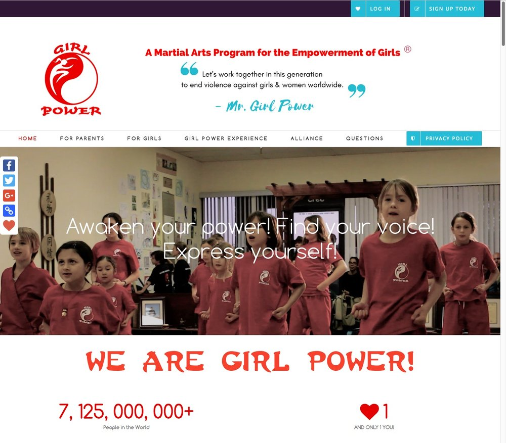 Girl Power Web Design